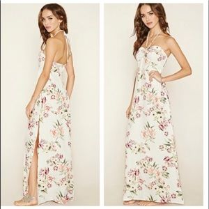 🆓BUY2 GET1 FREE Floral halter maxi dress